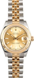 PreOwned Rolex Datejust 178273 Champagne Dial