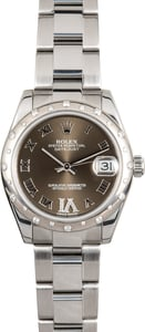 Rolex Mid-size Datejust Diamond 178344 Bronze
