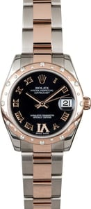 Rolex Datejust 178341 Two Tone Rose Gold Oyster