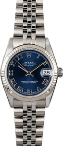 Used Rolex Datejust 78274 Blue Roman Dial