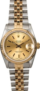 Rolex Datejust Mid-size 68273 Two Tone Jubilee