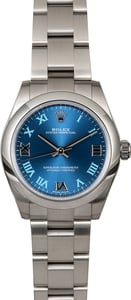 Rolex Oyster Perpetual 177200 Blue Roman Dial