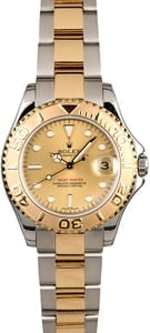 Mid-Size Rolex Yacht-Master 168623 Champagne Dial