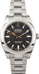 Used Rolex Milgauss 116400 Orange Accents