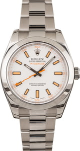 Used Rolex Milgauss 116400 Orange Luminous Markers
