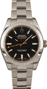 Used Rolex Milgauss 116400 Black Dial w/ Luminous Markers