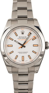 Pre-Owned Rolex Milgauss 116400 White Index Dial