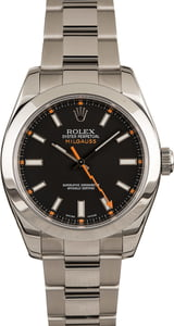 Pre-Owned Rolex Milgauss 116400 Smooth Bezel