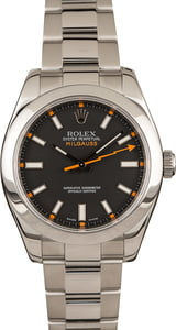 Used Rolex Steel Milgauss 116400 Black Dial