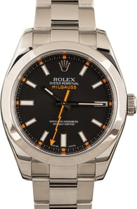 Used Rolex Milgauss 116400 Black Index Dial