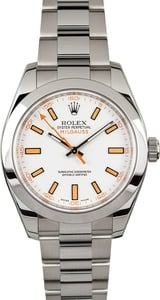 PreOwned Rolex Milgauss 116400 White Dial Steel Watch