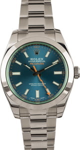 Used Rolex Milgauss 116400GV Blue Index Dial