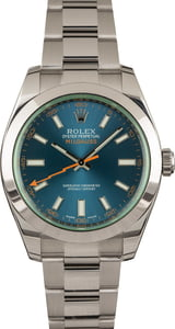 Pre Owned Rolex Steel Milgauss 116400GV Blue Dial