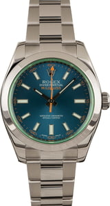 Pre-Owned Rolex Milgauss 116400GV Green Crystal
