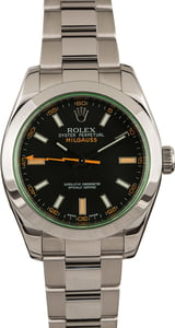 Used Mens Rolex Milgauss 116400V Green Crystal