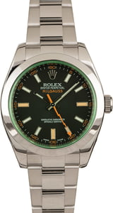 Rolex Milgauss 116400V Steel Oyster with Black Dial