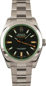 Used Black Dial Rolex Milgauss 116400V w/ Green Crystal
