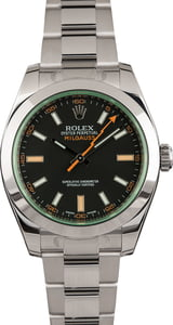 Pre Owned Rolex Milgauss Green Sapphire Crystal 116400GV