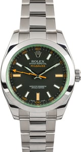 Rolex Milgauss 116400V Black Luminous Dial