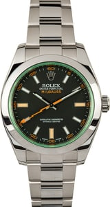 Used Rolex Milgauss Green Crystal 116400V