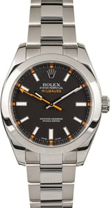 Rolex Milgauss 116400 Luminous Black Dial