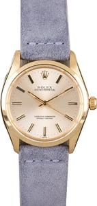 Rolex Oyster Perpetual 1002 Silver Dial with Yellow Gold Case