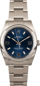 PreOwned Rolex Oyster Perpetual 114200 Blue Dial
