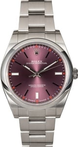 PreOwned Rolex Oyster Perpetual 114300 Red Grape Dial
