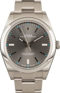 Rolex Oyster Perpetual Rhodium Dial 114300