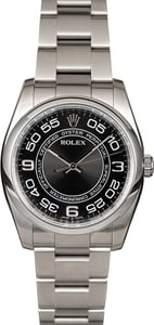 Rolex Oyster Perpetual 116000 Black Concentric Arabic Dial