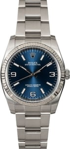 Rolex Oyster Perpetual 116034 Blue Luminescent Dial