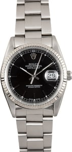 Rolex Oyster Datejust 16234 Black Dial