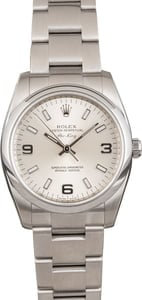 Rolex Oyster Perpetual 114200 Steel Oyster Silver Dial