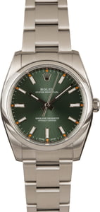 PreOwned Rolex Oyster Perpetual Olive Green Dial