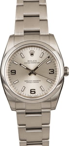 Pre-Owned Rolex Oyster Perpetual 114200 Silver Dial