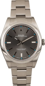 PreOwned Rolex Oyster Perpetual 114300 Dark Rhodium Dial 39MM