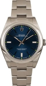 Rolex Oyster Perpetual 114300 Blue Dial Steel Oyster