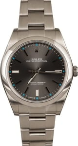 Used Rolex Steel Oyster Perpetual 114300 Dark Rhodium