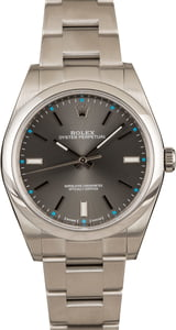 Pre-Owned Mens Rolex Oyster Perpetual 114300 Dark Rhodium Dial