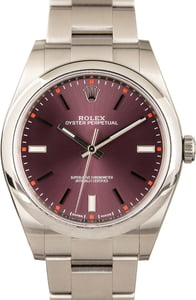 Rolex Oyster Perpetual 39 114300 Red Grape
