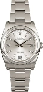 Rolex Oyster Perpetual 116000 Silver Arabic Dial