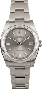 PreOwned Rolex Oyster Perpetual 116000 Steel Index Dial