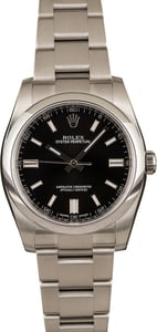 Pre-Owned Rolex Oyster Perpetual 116000 Black Dial Watch