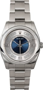 Rolex Oyster Perpetual 116000 Concentric Blue Dial