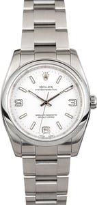 Rolex Oyster Perpetual 116000 Silver Luminous Dial