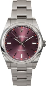 Rolex Oyster Perpetual 39MM Ref 114300 Red Grape