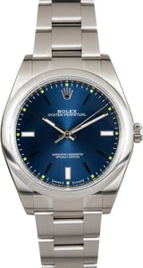 Rolex Oyster Perpetual 114300 Luminous Blue Index Dial