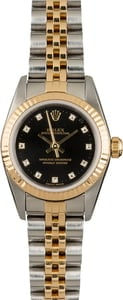 PreOwned Rolex Oyster Perpetual 76193 Black Diamond Dial