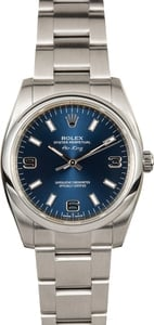Rolex Oyster Perpetual Air King 114200 Blue Dial