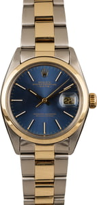 Pre-Owned Rolex Date 1500 Blue Dial
